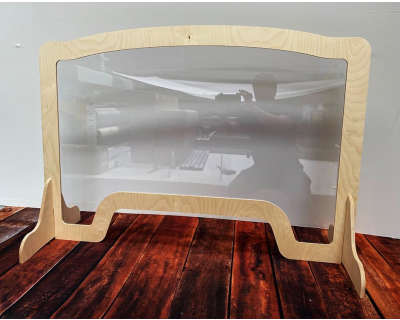 Wooden Frame Countertop Sneeze Screen
