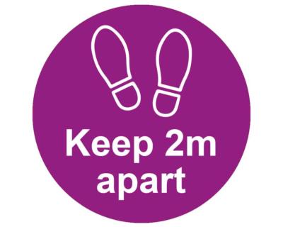 Please Keep 2m Apart - Covid19 Coronavirus Floor Wall Stickers