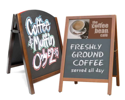Chalk Board Pavement Signs