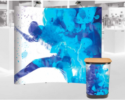 Curved Magnetic Pop Up Display