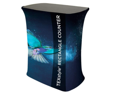 texstyle rectangle fabric popup counter