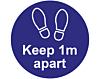 Please Keep 1m Apart - Covid19 Coronavirus Floor Wall Stickers