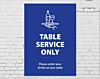 Table Service Only Poster
