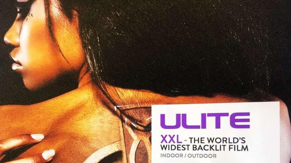 Backlit poster